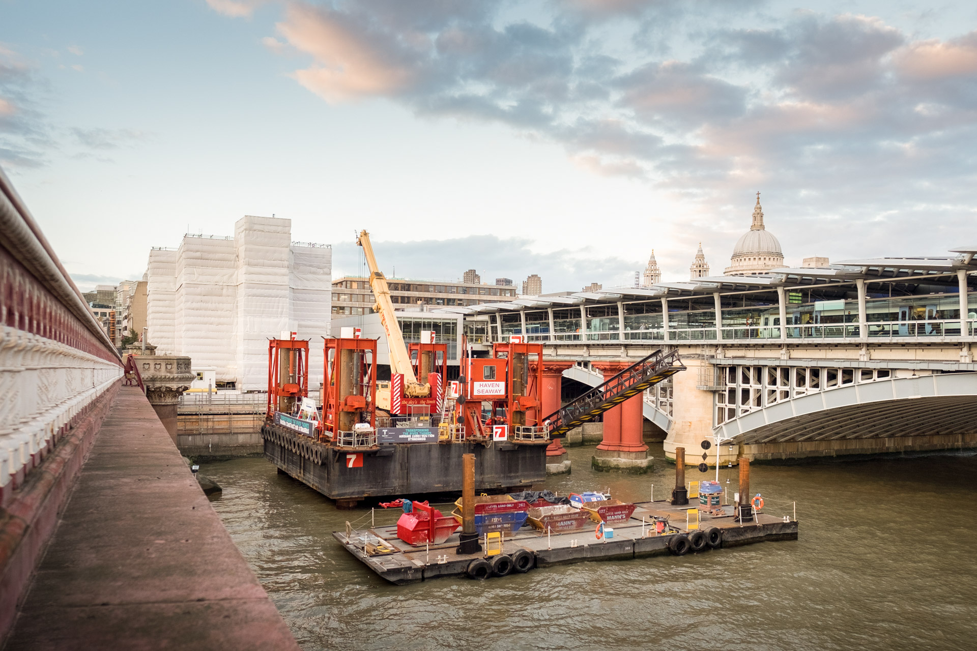 Construction sector annual report photography London